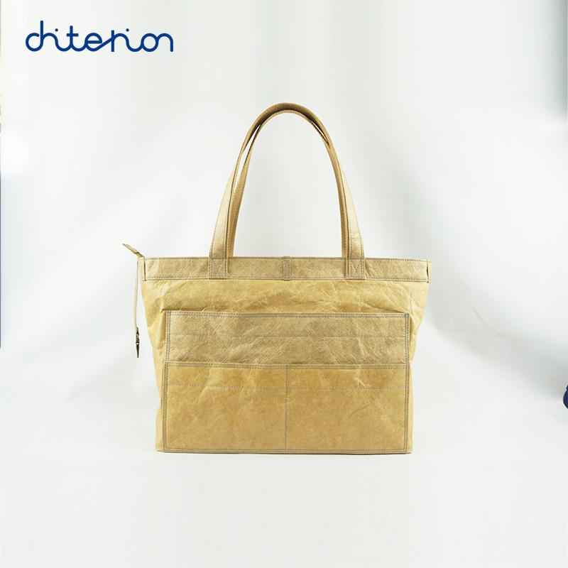 Chiterion Multi-pockets New Fashion Eco-friendly Boat Tyvek/Dupond/Dupont Paper Jeans Shape Tote Waterproof Handbag