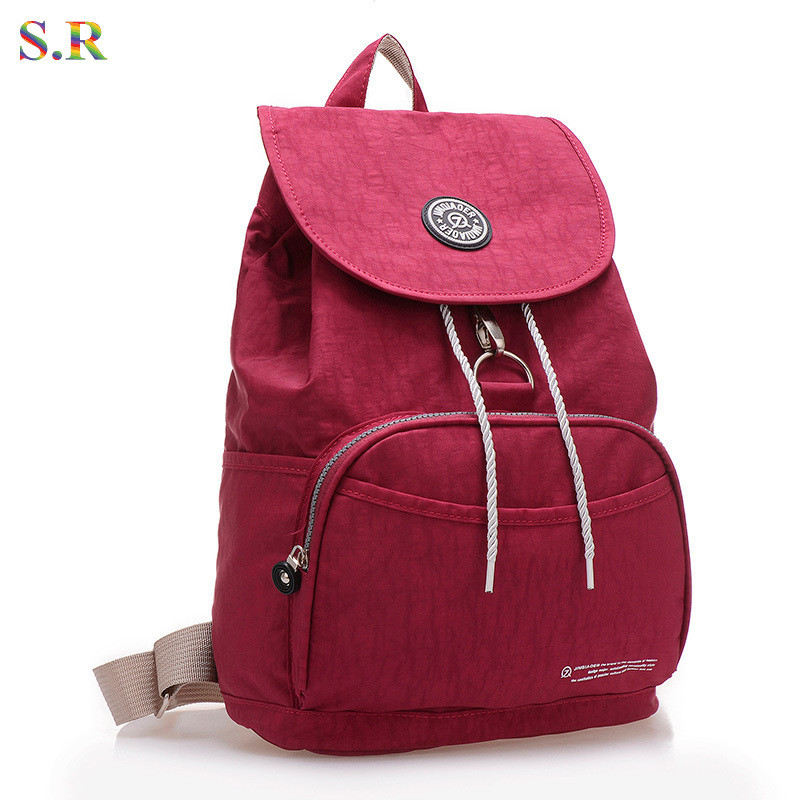 New 2015 Women Backpack Waterproof Nylon 10 Colors Lady Backpack Female Casual Sport Travel Bags Mochila Feminina CB174
