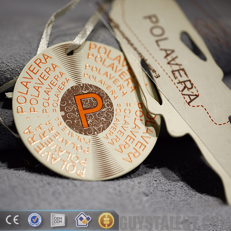 custom guangzhou transparent plastic pvc patch paper garment accessory label hang tags for clothing