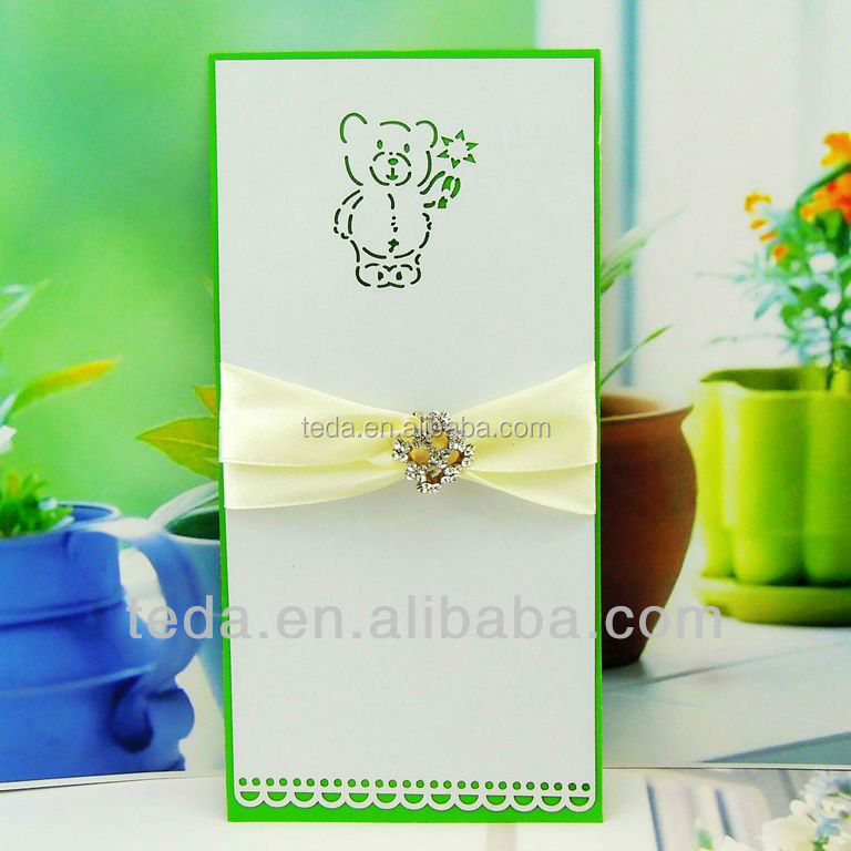 Cheap greeting card,Children Card with laser cut