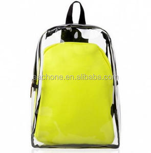 cheap Latest Durable Waterproof Transparent PVC Clear Backpack for Student