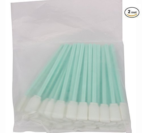 tyoungg 2 Pack of 50 Pieces Inkjet Printer Head Solvent Cleaning Swab Sponge Rod for Large Format Printer, Inkjet, Piezoelectric Photo Machine Print Nozzles, Water-based And All Solvent Printhead