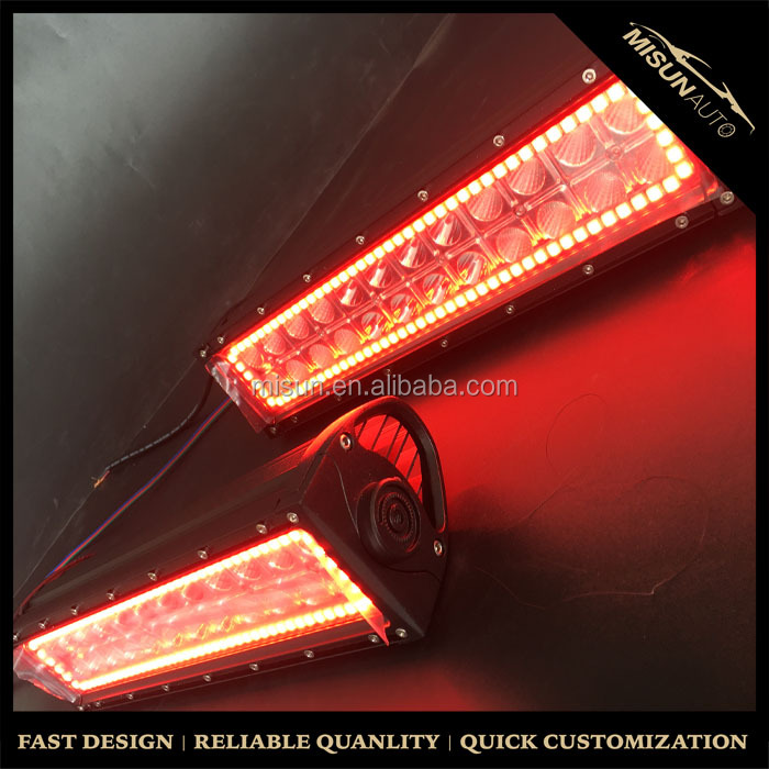 22inch 120W C ree Led Light Bar Halo Ring RGB Chasing 3w C ree Led Chip Led Strobe Light Bar