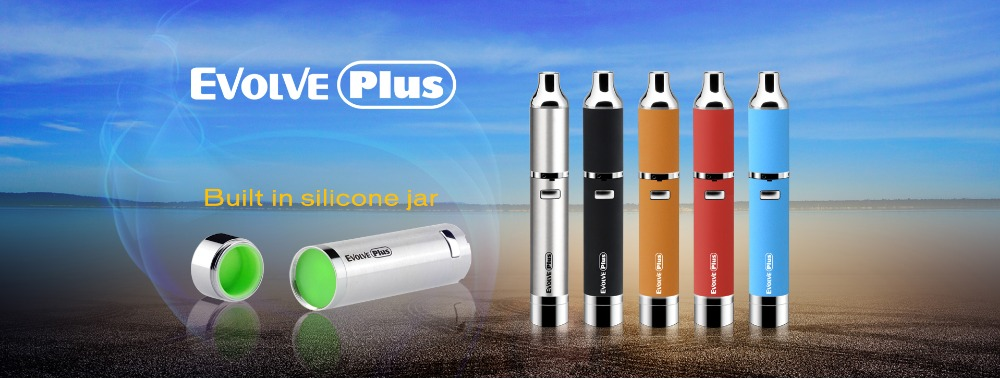 Quartz dual coil built-in silicone jar Yocan Evolve plus wax kit vapor starter kit portable dabber