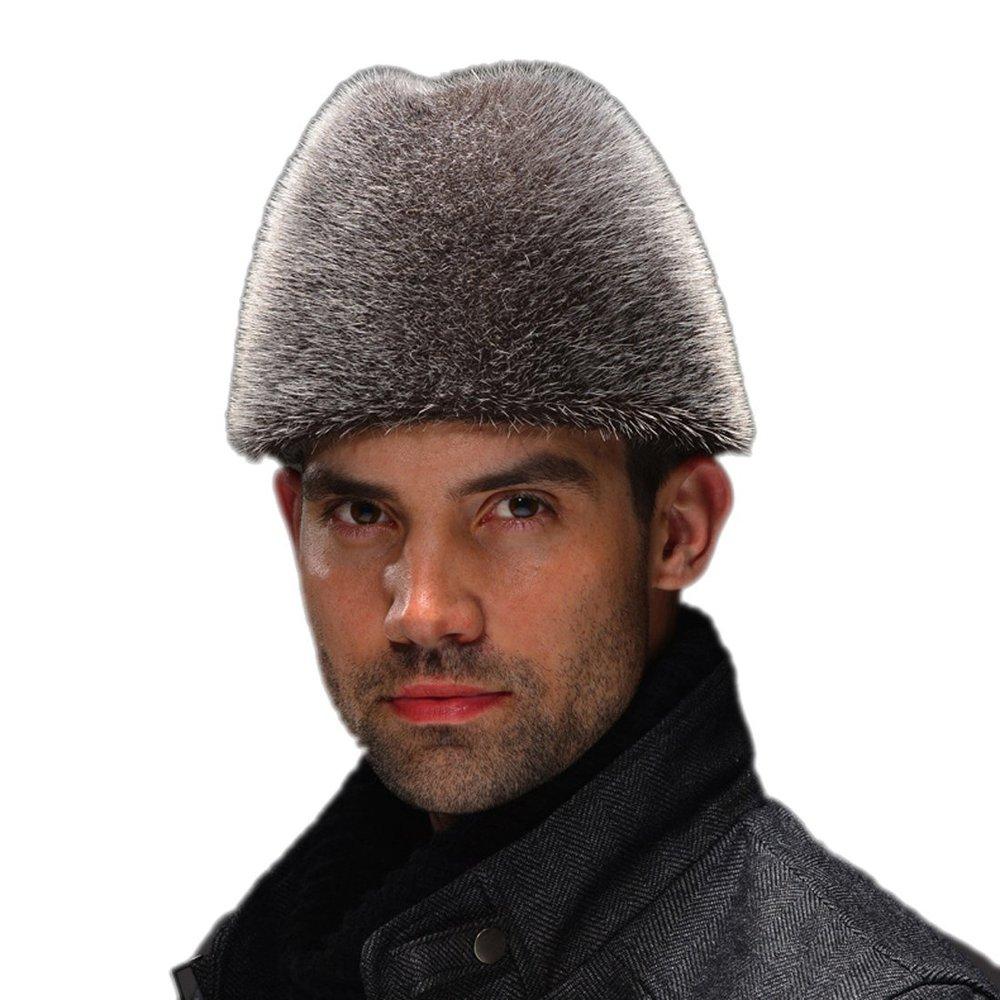 Get Quotations · Men s Sealion Skin Fur Fedora Hat Natural Color 4f7afda8c48c
