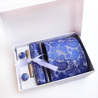 Polyester Paisley Design Tie Gift Set