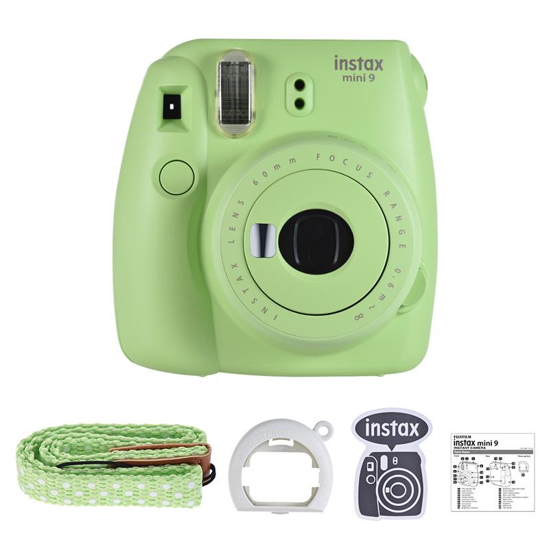 Fujifilm Instax Mini 9 фотокамера моментальной печати фотокамера Instax фотокамера всплывающая линза автоматический замер мини-камера с пленками набор...(Китай)
