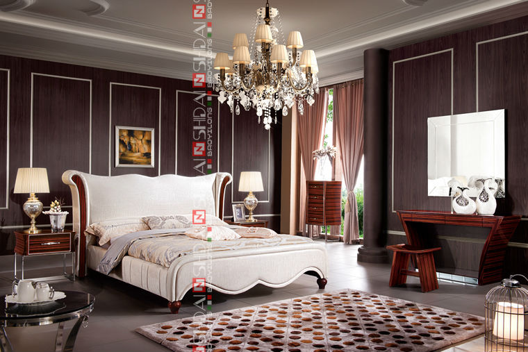 foshan modern bed design,new model double bed,latest leather bed