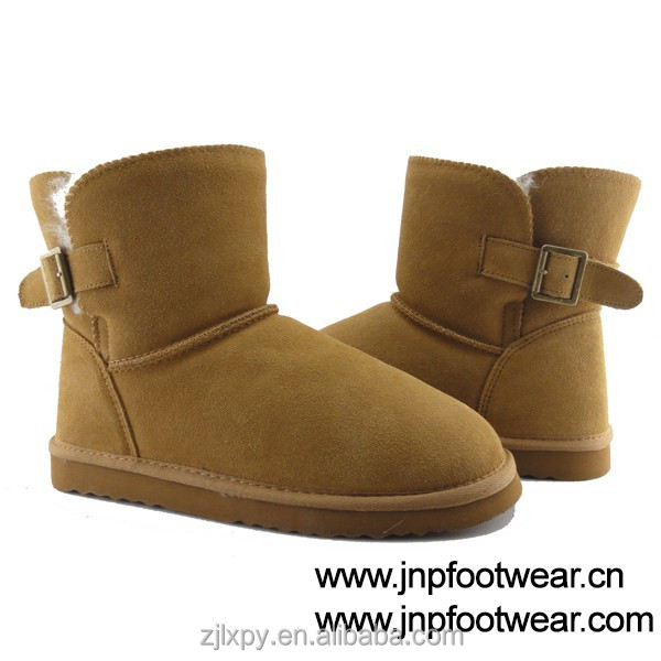 Leather warm canada winter snow boots for women