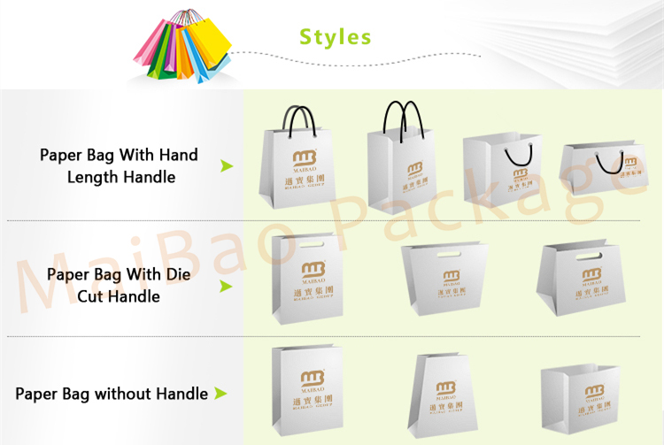 Low Cost Retail Cheap OEM Custom Printing Luxury Gift Shopping Paper Bag With Your Own Logo Print