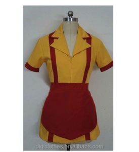 2 Broke Girls Fashion Cosplay Max Clothing Waitress Uniform Dress Costume-made