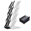 High quality Outdoor Fold-up brochure display stand/ floor stand Iron A4 brochure holder