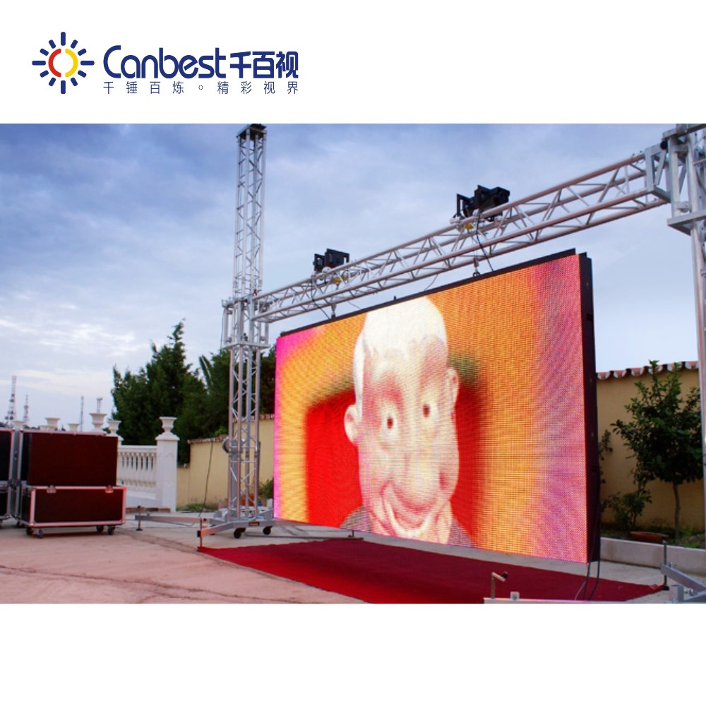 High refresh rate / brightness / stable p10 led display module 16x16