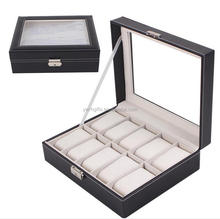 luxury leather watch boxes for 10 slots watches