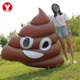 Emoji Swimming Pool Float Brown Inflatable Poop float manufacturer