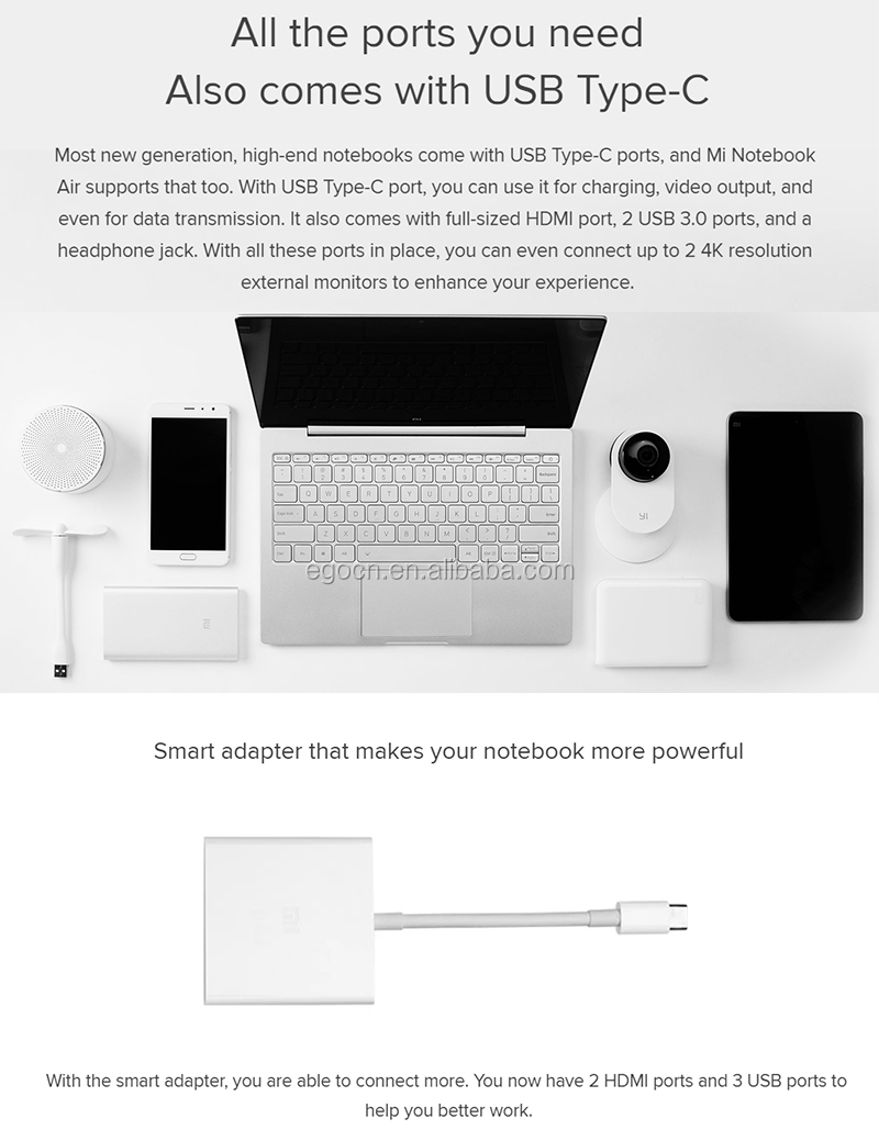 Xiaomi Mi Air 13.3 Laptop , 8Gb Ram 32Gb Rom Dual Wifi Notebook Computer Win 10 1920*1080 Reso 13.3 Inch China Laptop Notebook