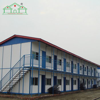 Customized fast-installation two storey labor camp prefab house