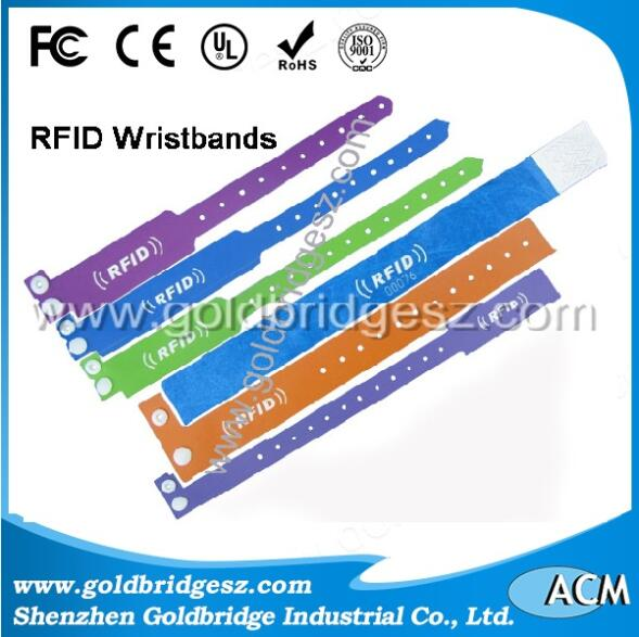 Silicone SMART RFID wristbands for hotel door lock system