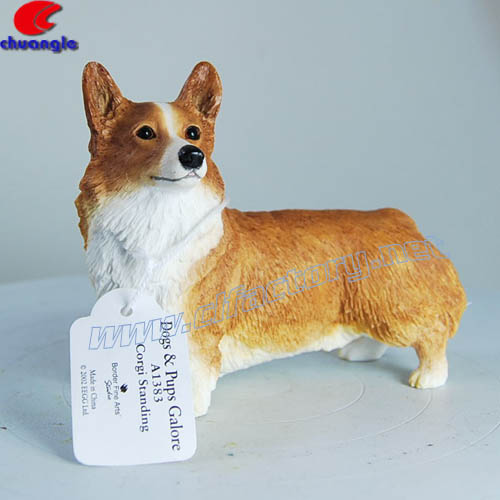 Custom Made Resina Puppy Dog Statua, Scultura cane Pet Figurine Decorazione Dell'interno