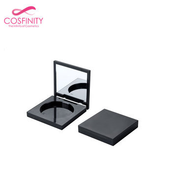 Make your own brand powder case concealer makeup magnet mirrored palette blush packaging empty eyeshadow palette