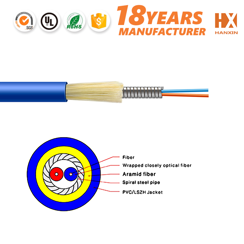 Chinca factory low attenuation GJSFJV duct fiber optic cable