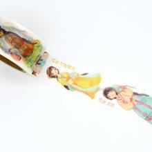 1Roll=25mmx7m High Quality Cat Pattern Japanese Washi Decorative Adhesive DIY Masking Paper Tape Label Sticker Gift Wholesale