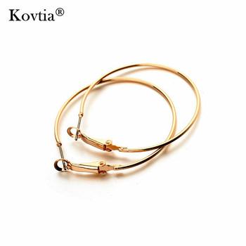 Dubai Custom Alloy Jewelry Simple Gold Hoop Earrings Designs For Women