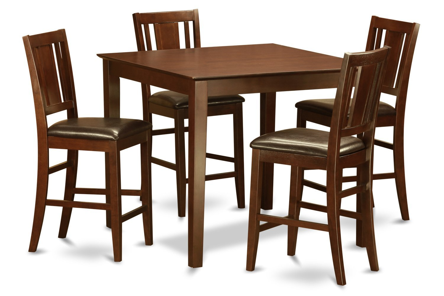East West Furniture EWBU5-MAH-LC 5-Piece Gathering Table Set