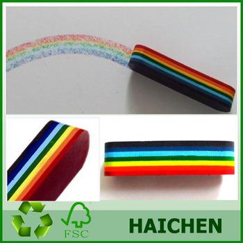 novelty rainbow crayon 7 color wax crayon multi color crayon buy 7