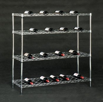 Nsf Wire Chrome Floor Standing Metal Vertical Wine Rack Racks Storage Shelf Product On Alibaba