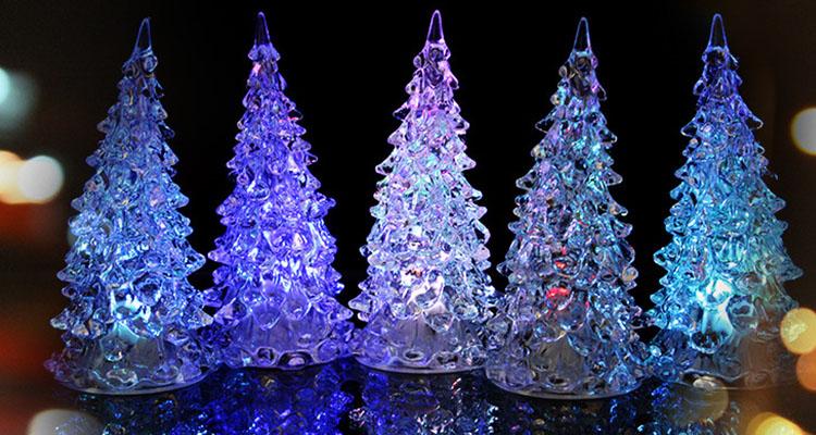 Wholesale ligthed acrylic christmas ornaments acrylic christmas