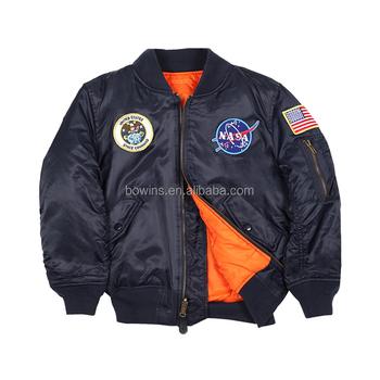 817c9fc3d981b Ingrosso baby toddler abbigliamento invernale ragazzo bomber ma-1 giacca  reversibile