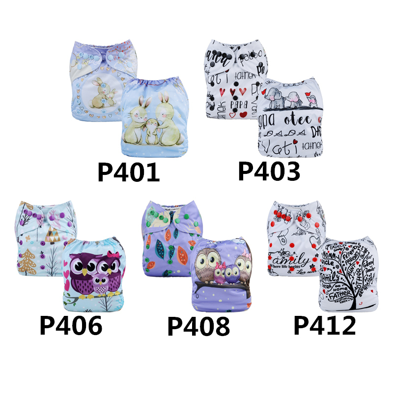 OEM Ready 30Sets Free shipping Reusable Positio4 cloth diaper with insert