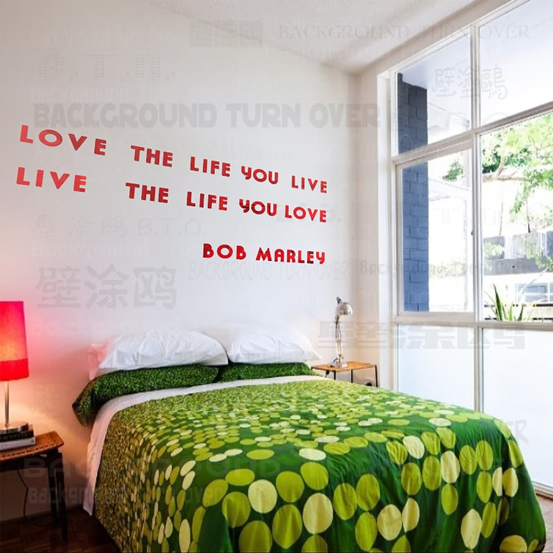 Bob Marley DIY inspirational quotes acrylic mirror decorative letters wall  decals quotes home bedroom decor RMYK-005