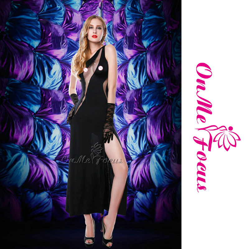 Piso-longitud vestido de partido del Club de las mujeres lencería ...