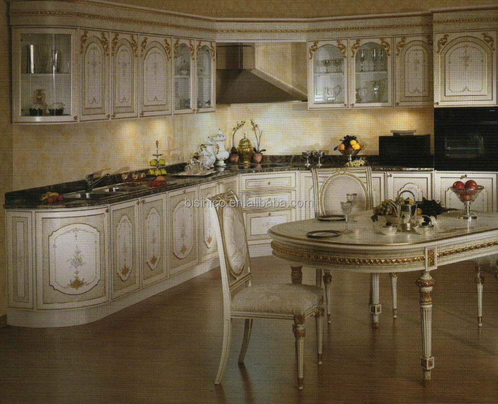 Französisch marketerie stil küchenschrank, massivholz ...