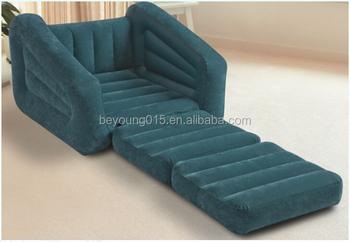 Bed Room Furniture Single Seater Folding Intex 68565 Inflatable Sofa Cum Bed/inflatable  Sleeping Sofa