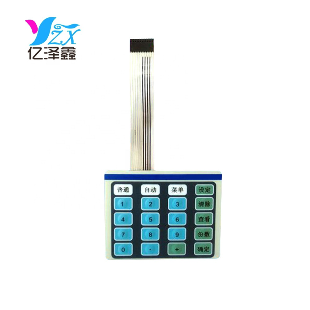 Custom-made 3M adhesive waterproof touch screen keypad/keyboard membrane switch