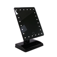 ABS specchio square single-side Spiegel LED desktop cosmetic mirrors Espejo Miroir Rotatable high light touch mirror