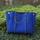 2020 Hot selling fashion soft material beach bag perforated neoprene bag neoprene tote bag for women