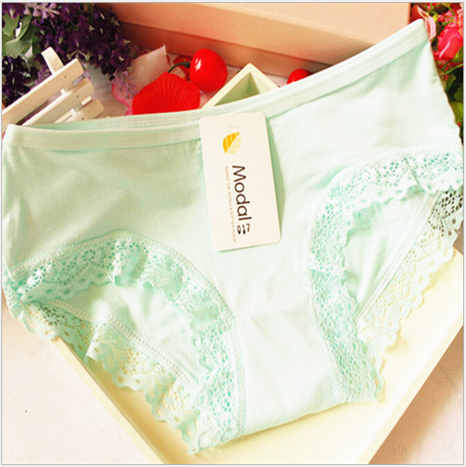 a7ebeb649621 Get Quotations · Women Modal Panty Cute Panties Low Waist Female Solid Color  Culotte Sexy Underwear Girls Cotton Briefs
