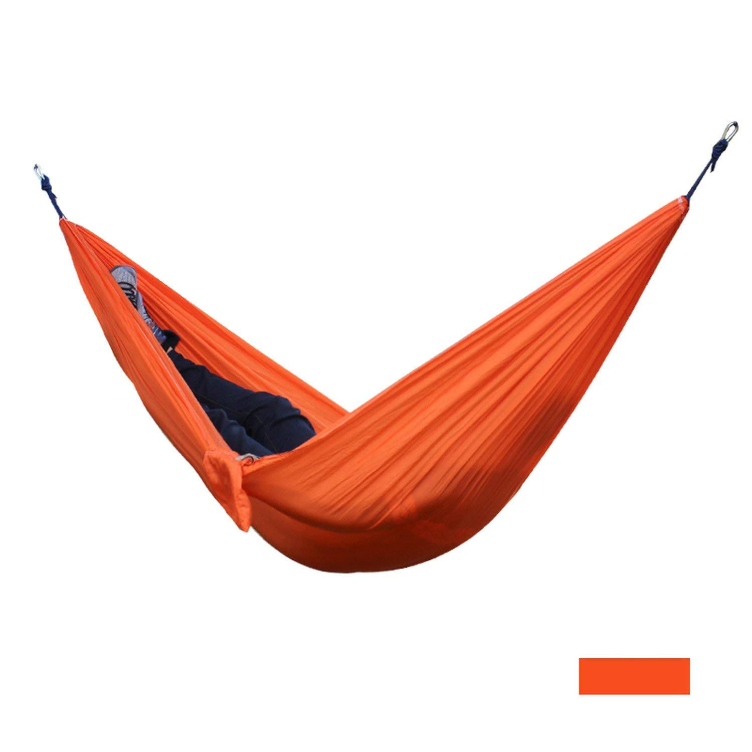 Mandaartins 24 Color 2 People Portable Parachute Hammock Camping Survival Garden Flyknit Hunting Leisure Hamac Travel Double Person Hamak,orange