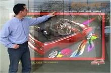 21.5″ Dual interactive touch foil Film through glass window shop Best price and cost