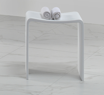 Oasis Coastal Vogue Pact Teak Corner Shower Bench With Shelf