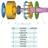Daikin PVD23 Hydraulic pump spare parts