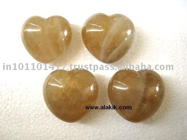 Wholesale Gemstone Pub Hearts : Citrine