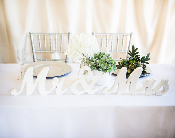 Mr And Mrs Large Wooden Letters: Free-shipping-Mr-and-Mrs-Wedding-Signs-for-Sweetheart