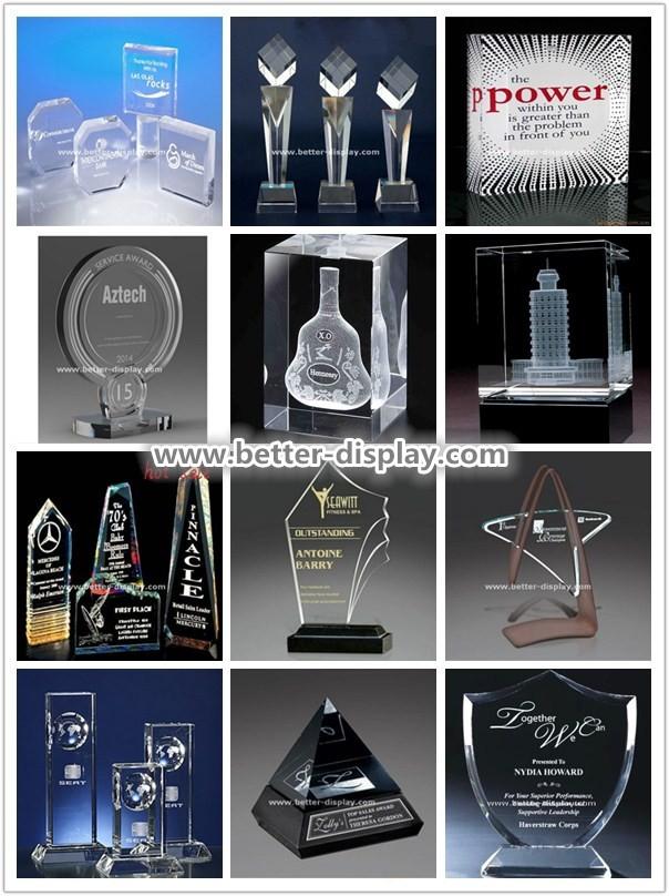 Personalized custom acrylic engraved acrylic awards