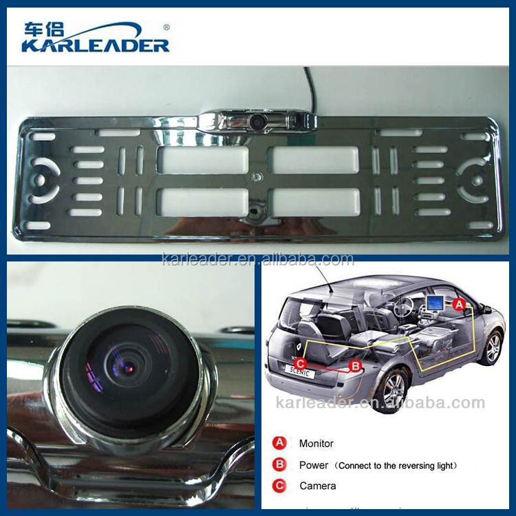 2015 New Design European License Plate Rear View Camera,Car Number ...