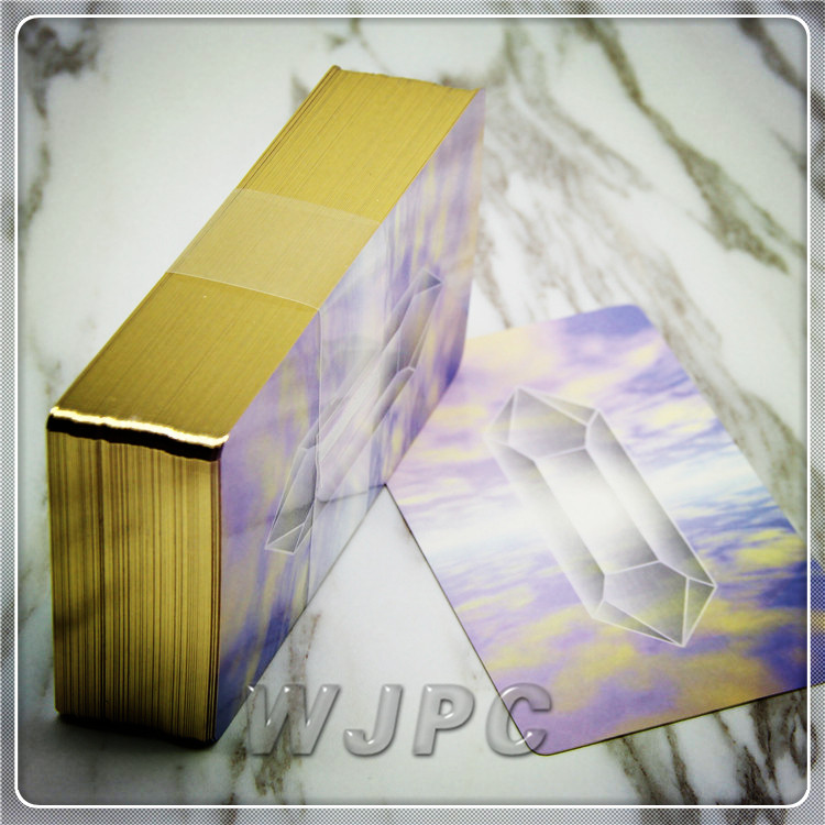 Customized New Design 400gsm Art Paper UV Varnish Holographic Tarot Cards Decks Printing With Boxes